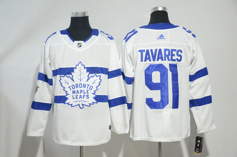 Maple Leafs 91 John Tavares White 2018 NHL Stadium Series Adidas Jersey