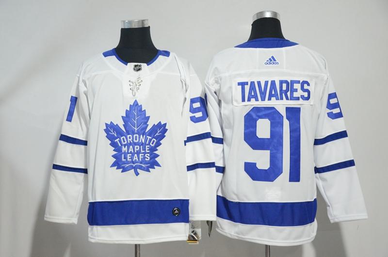 Maple Leafs 91 John Tavares White Adidas Jersey