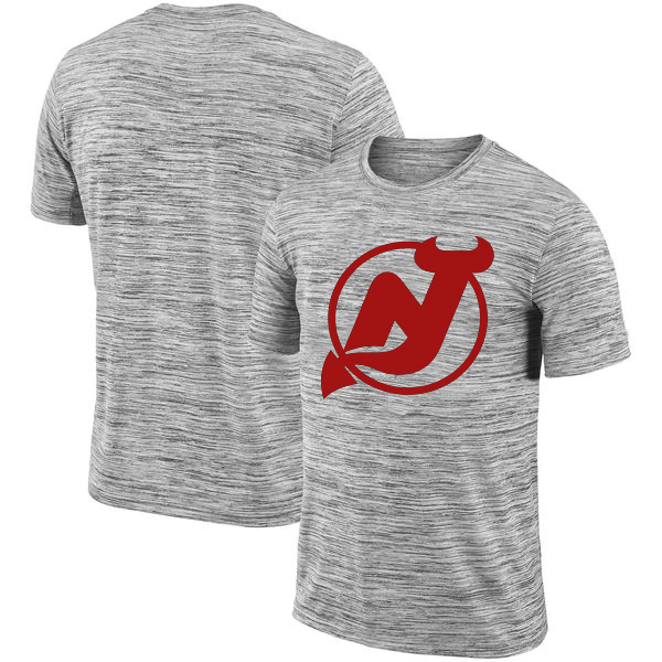 New Jersey Devils 2018 Heathered Black Sideline Legend Velocity Travel Performance T-Shirt