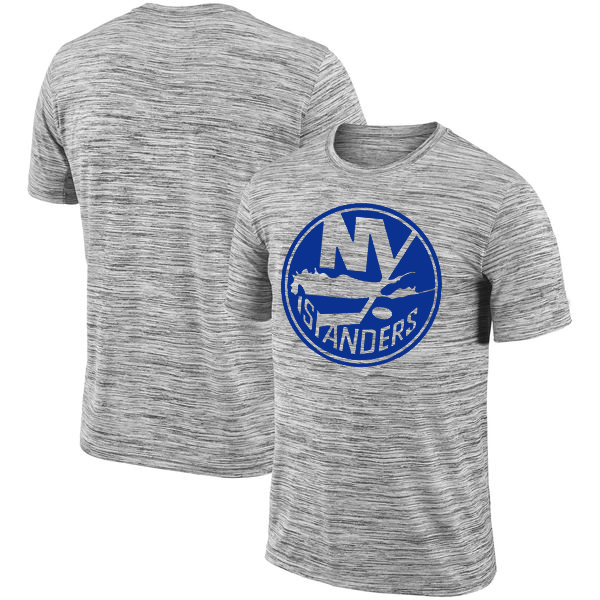 New York Islanders 2018 Heathered Black Sideline Legend Velocity Travel Performance T-Shirt