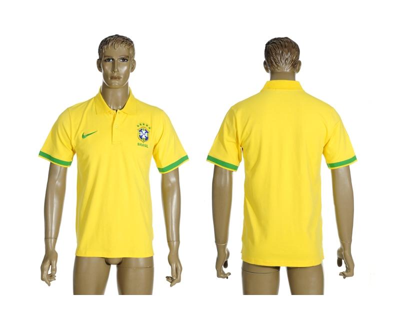 Brazil Yellow Soccer Polo Shirt