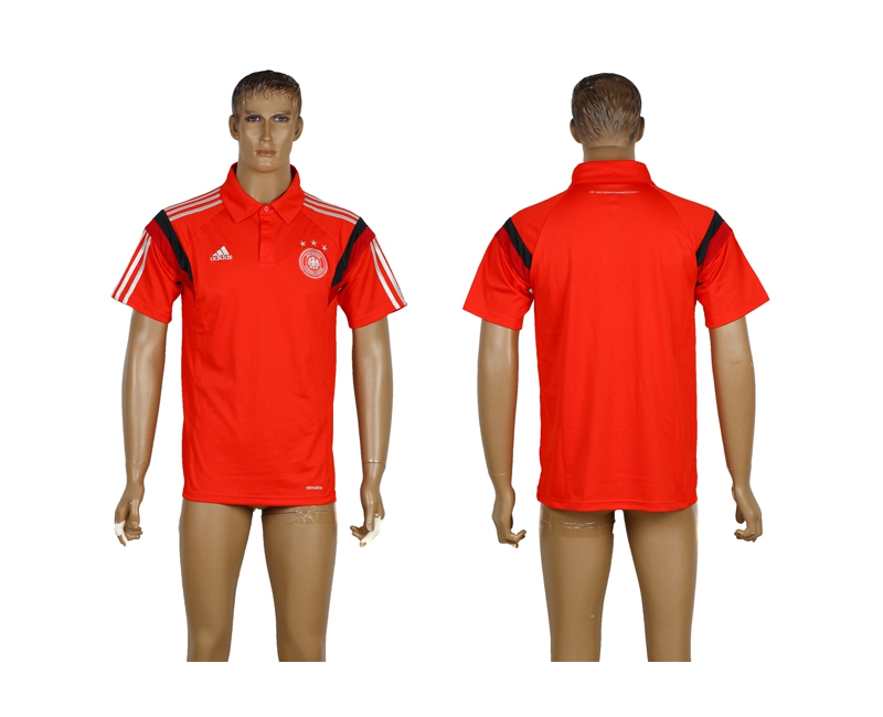Germany Red Soccer Polo Shirt