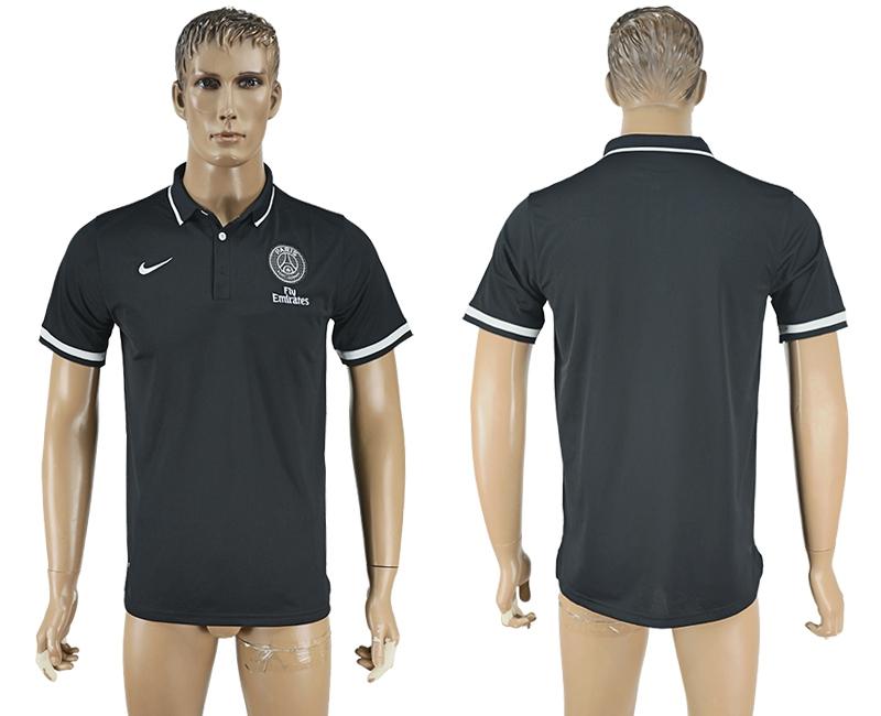 Paris St-Germain Black Soccer Polo Shirt