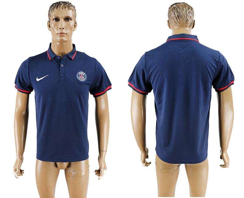 Paris St-Germain Navy Soccer Polo Shirt