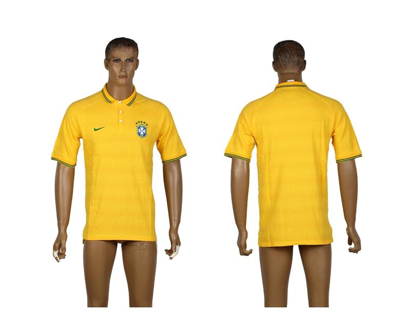 Spain Yellow Soccer Polo Shirt