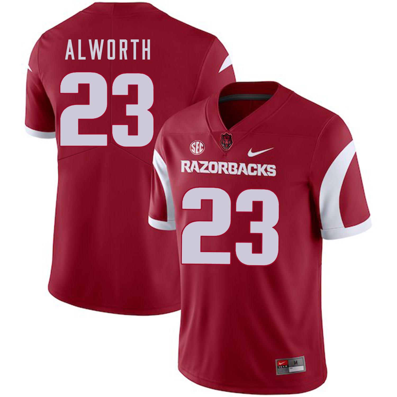 Arkansas Razorbacks 23 Lance Alworth Red College Football Jersey