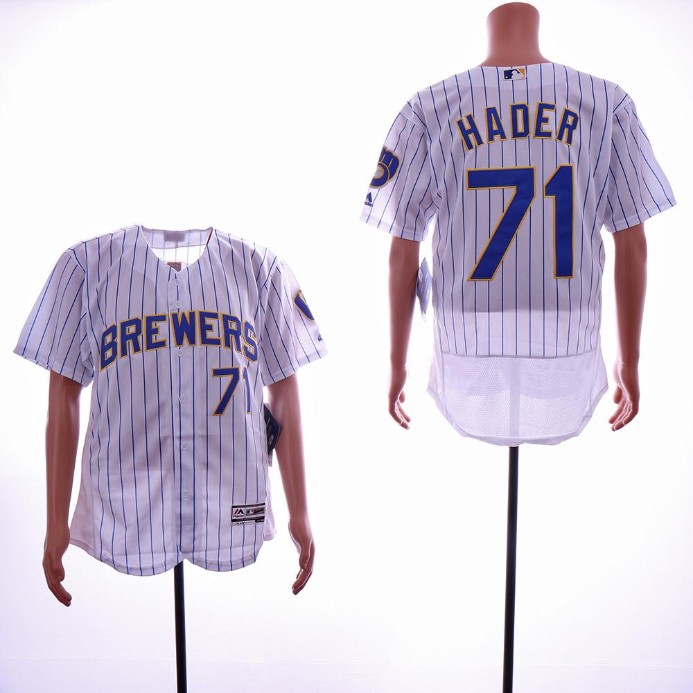 Brewers 71 Josh Hader White Flexbase Jersey