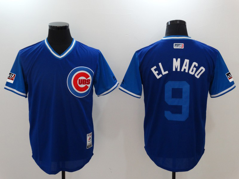 Cubs 9 Javier Baez El Mago Royal 2018 Players' Weekend Authentic Team Jersey