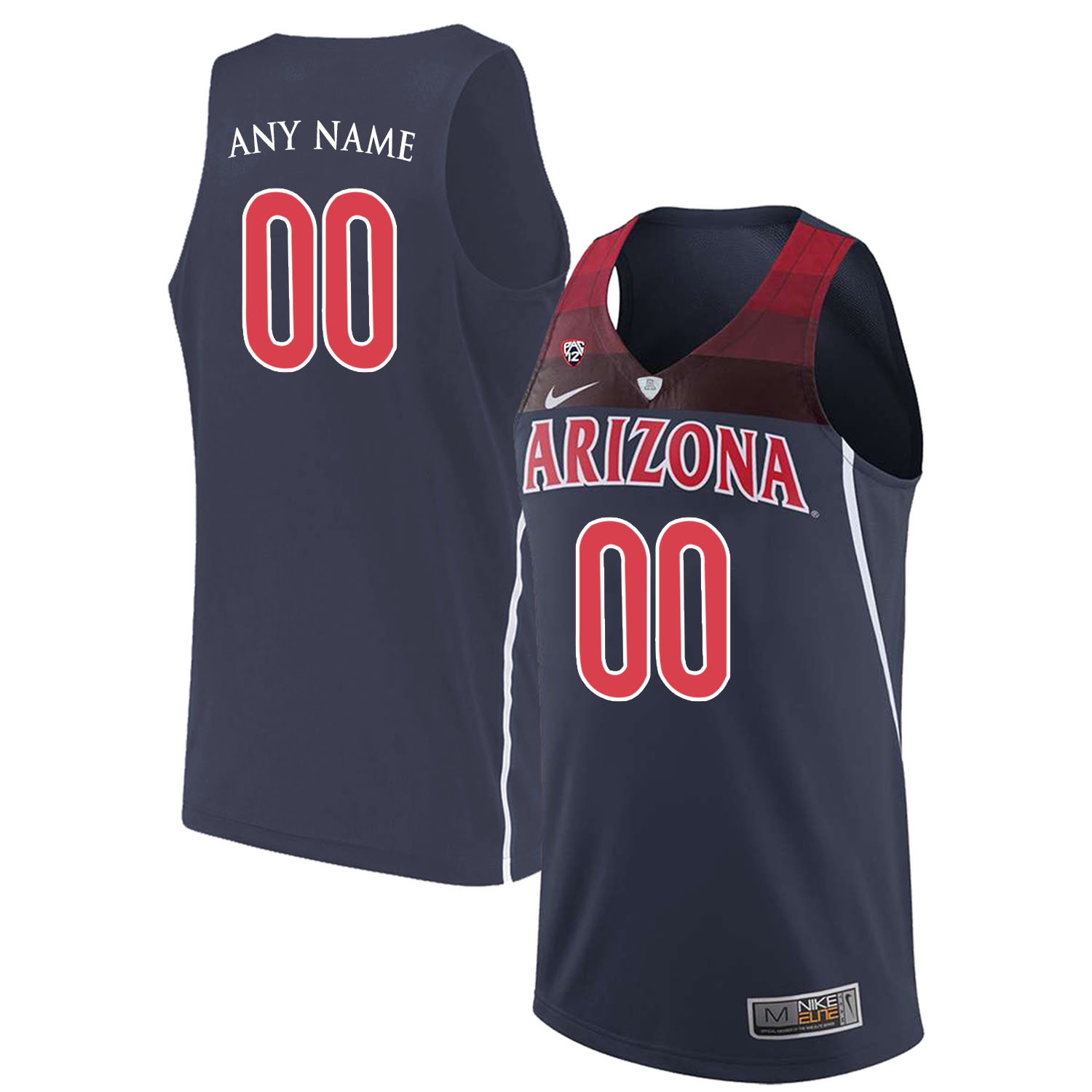 Arizona Wildcats Navy Men's Custom College Basketball Jersey