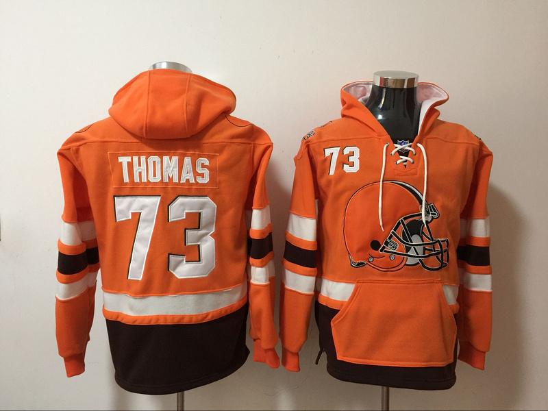 Nike Broncos 73 Demaryius Thomas Orange All Stitched Sweatshirt