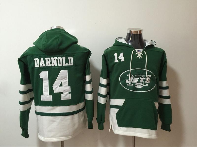Nike Jets 14 Sam Darnold Green All Stitched Sweatshirt