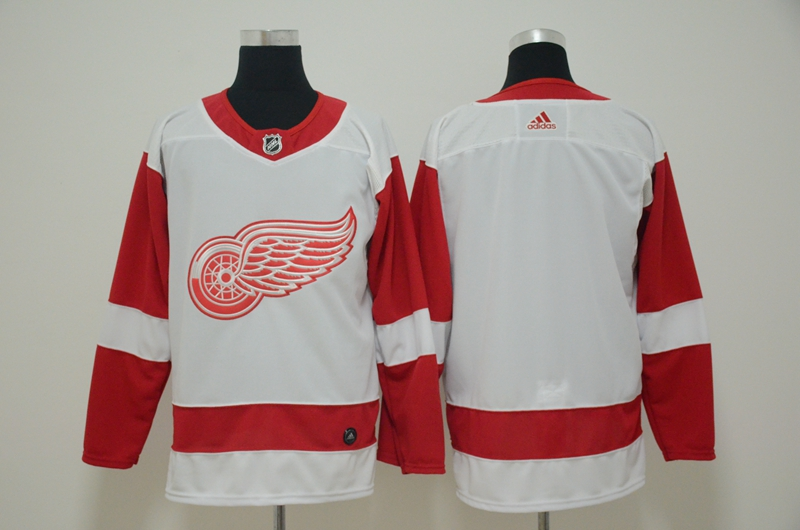 Red Wings Blank White Adidas Jersey