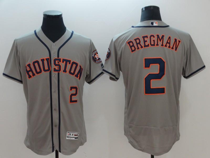 Astros 2 Alex Bregman Gray Flexbase Jersey