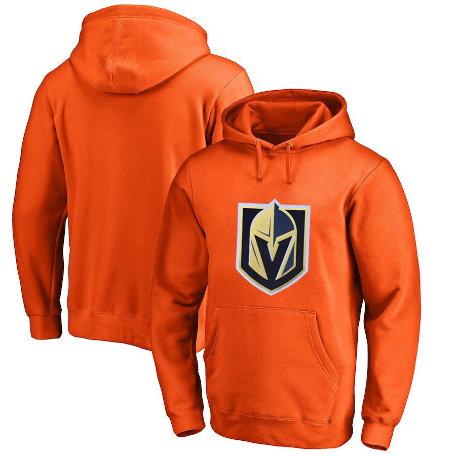 Vegas Golden Knights Orange All Stitched Pullover Hoodie