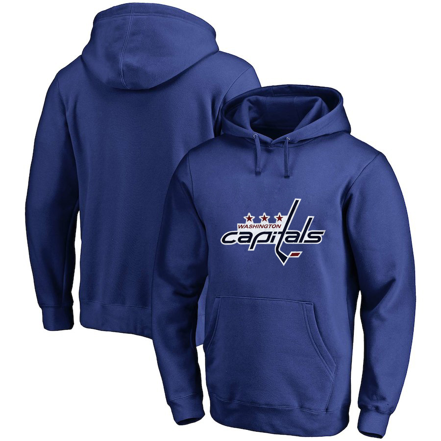 Washington Capitals Blue All Stitched Pullover Hoodie