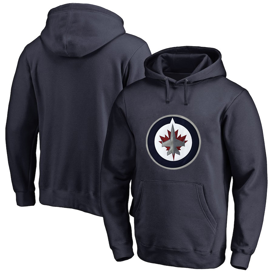Winnipeg Jets Navy All Stitched Pullover Hoodie