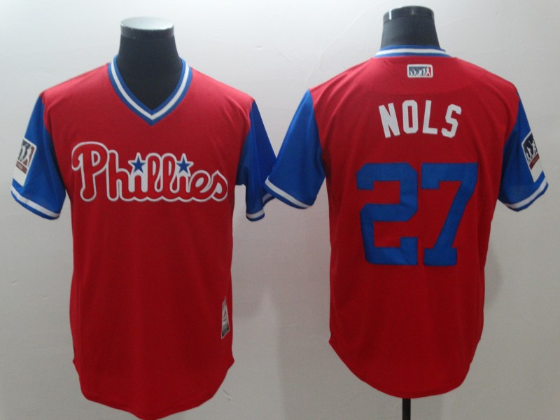 Phillies 27 Aaron Nola Nols Red 2018 Players' Weekend Authentic Team Jersey