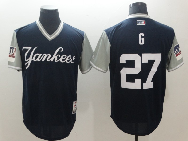 Yankees 27 Giancarlo Stanton G Navy 2018 Players' Weekend Authentic Team Jersey