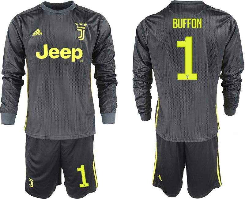 2018-19 Juventus 1 BUFFON Third Away Long Sleeve Soccer Jersey