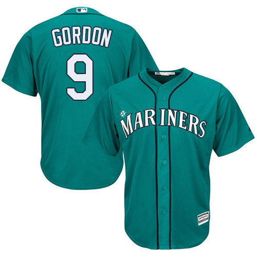 Marlins 9 Dee Gordon Green Cool Base Jersey