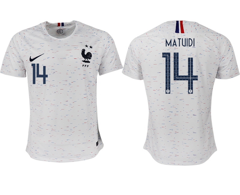 France 14 MATUIDI Away 2018 FIFA World Cup Thailand Soccer Jersey