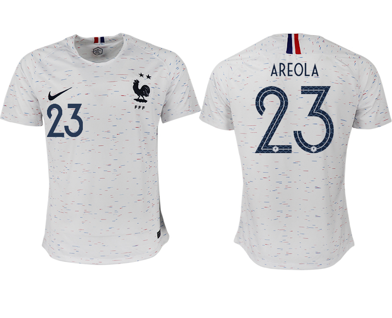France 23 AREOLA Away 2018 FIFA World Cup Thailand Soccer Jersey