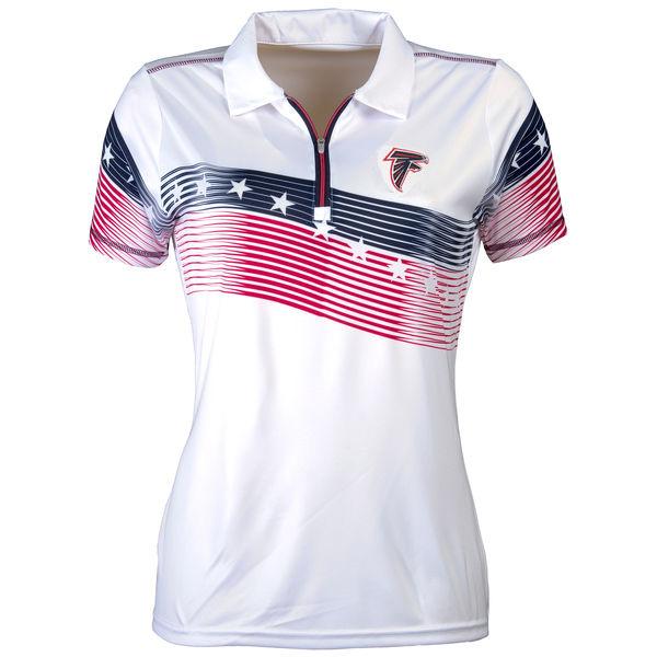Women's Antigua Atlanta Falcons White Patriot Polo