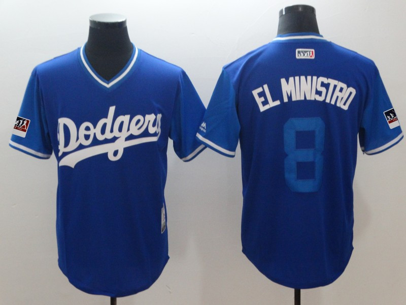 Dodgers 8 Manny Machado El Ministro Royal 2018 Players' Weekend Authentic Team Jersey