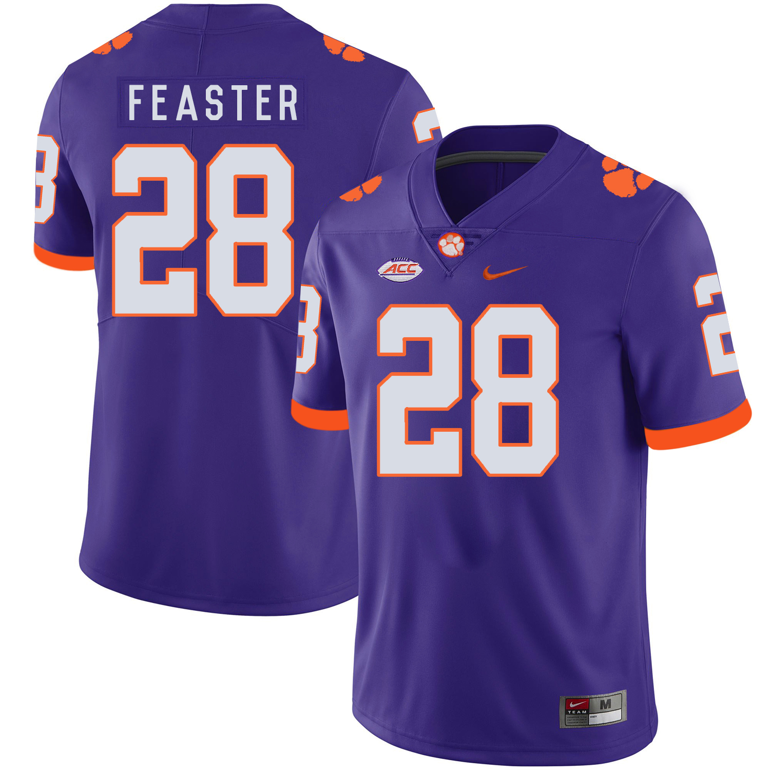 Clemson Tigers 28 Tavien Feaster Purple Nike College Football Jersey