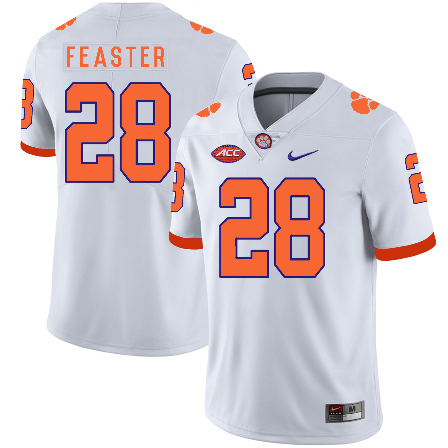 Clemson Tigers 28 Tavien Feaster White Nike College Football Jersey