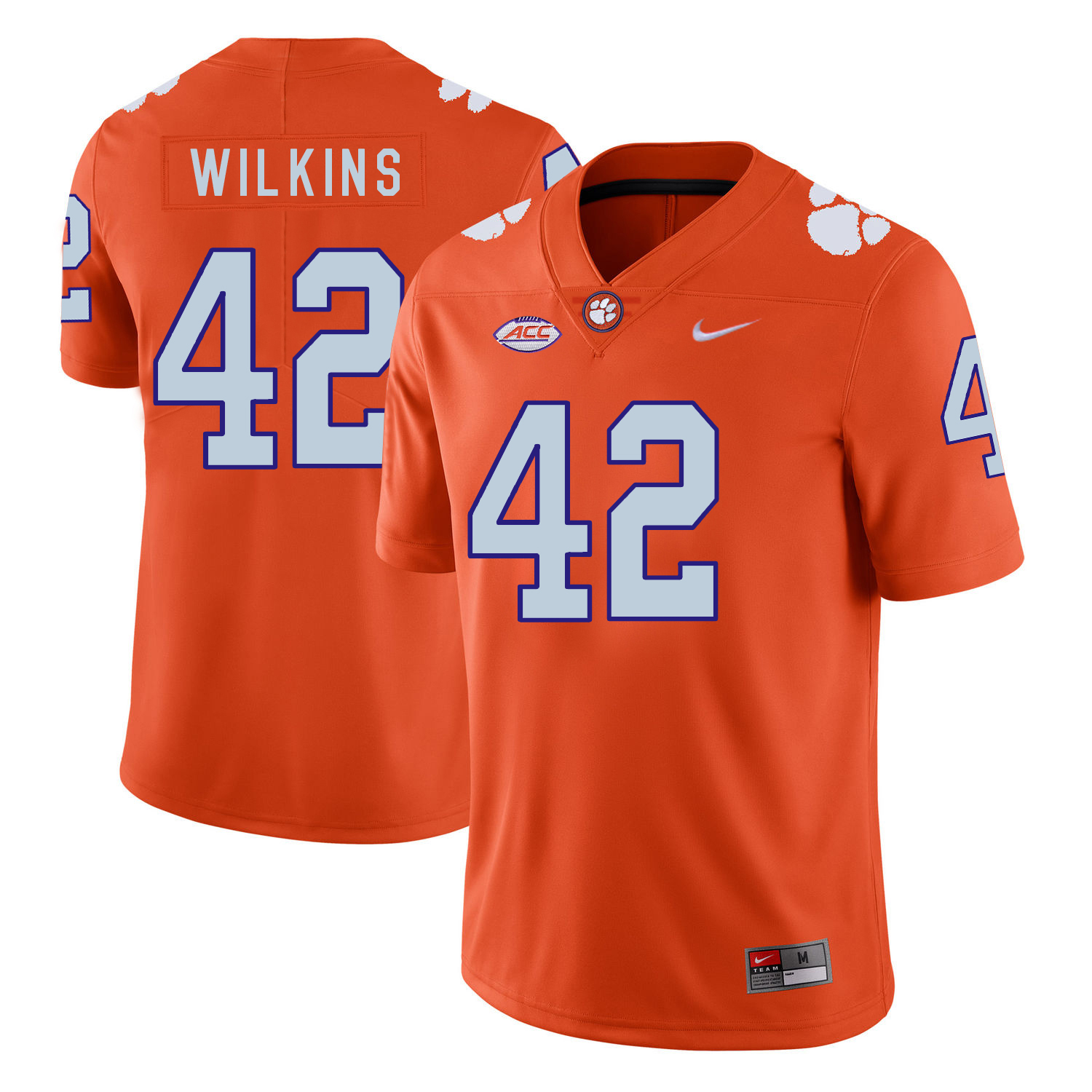 Clemson Tigers 42 Christian Wilkins Orange Nike College Football Jersey