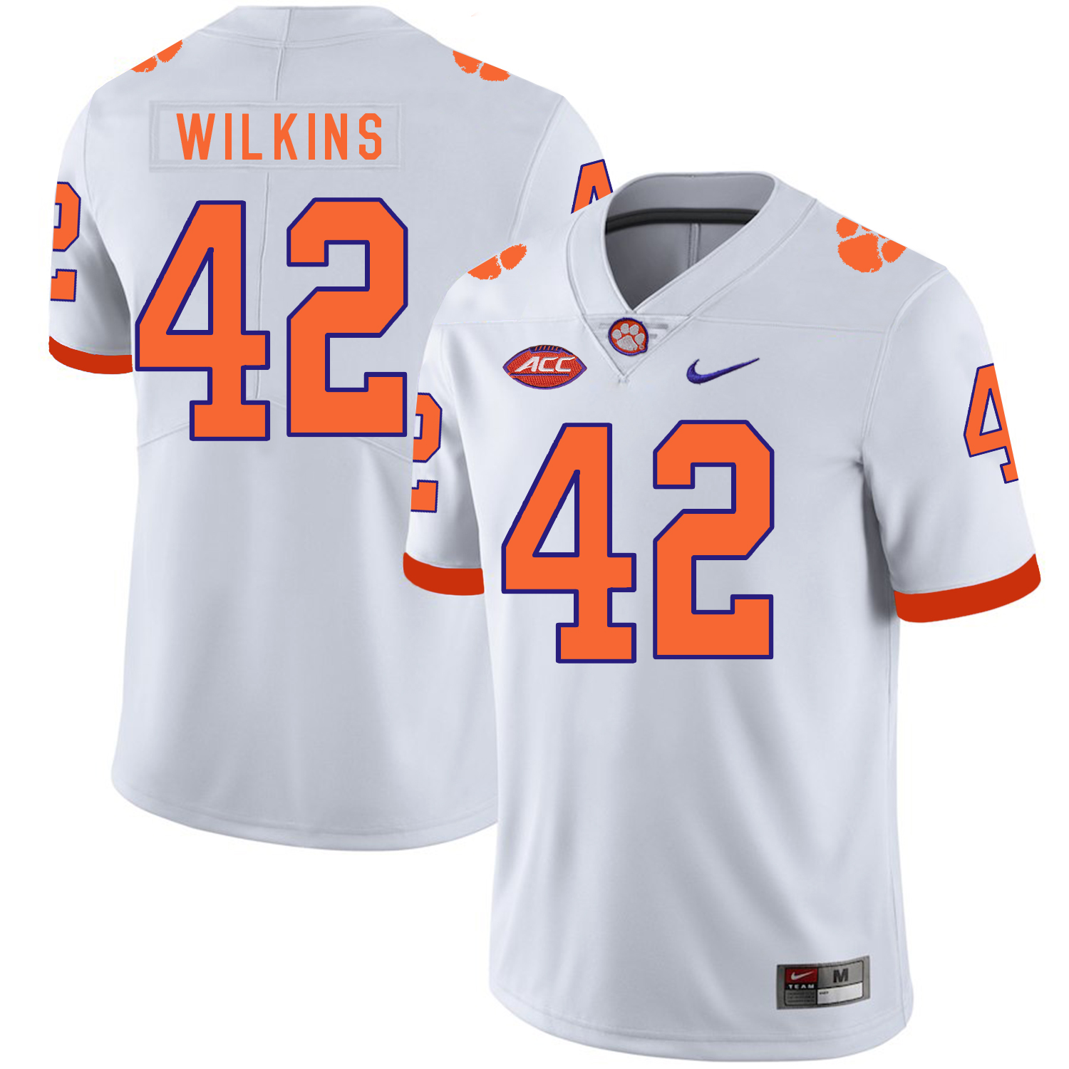 Clemson Tigers 42 Stephone Anthony White Nike College Football Jersey
