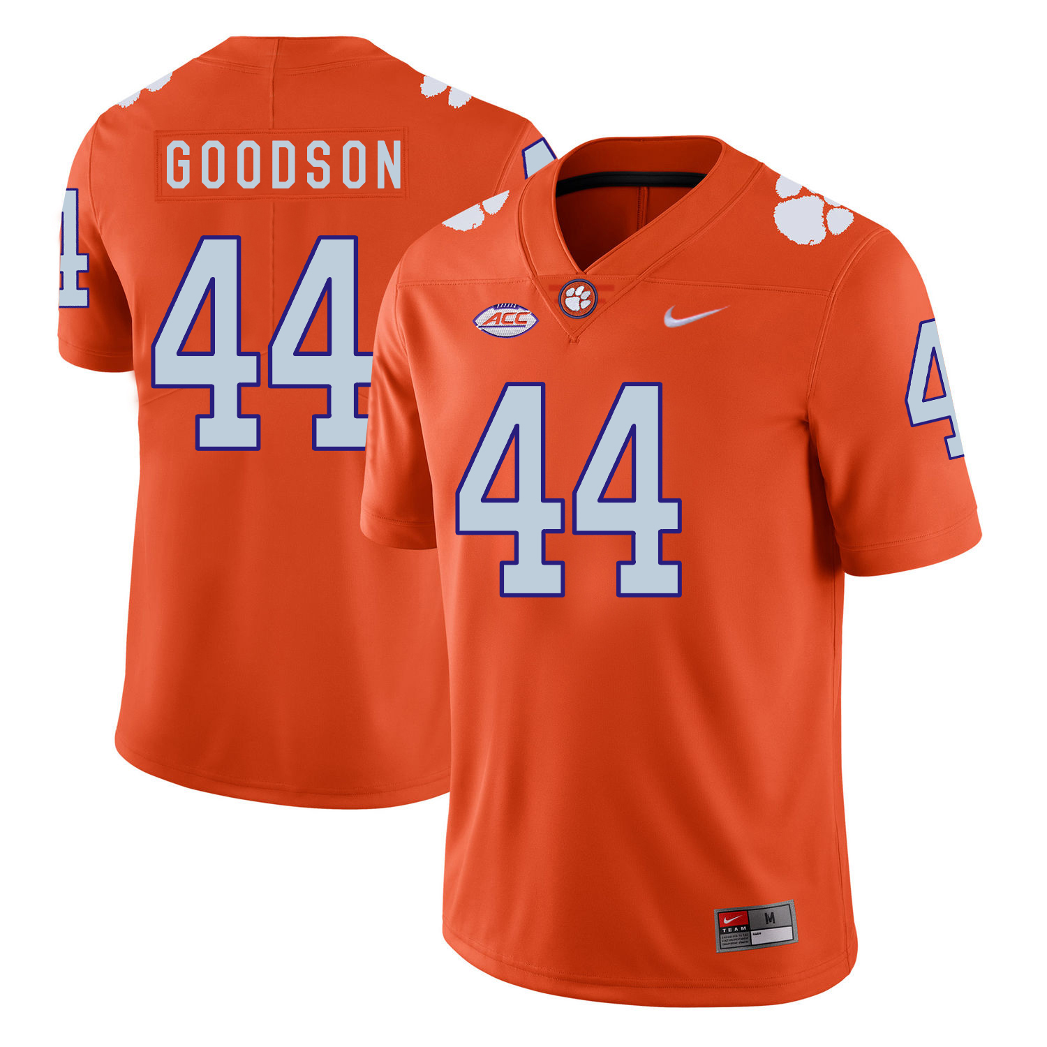 Clemson Tigers 44 B.J. Goodson Orange Nike College Football Jersey
