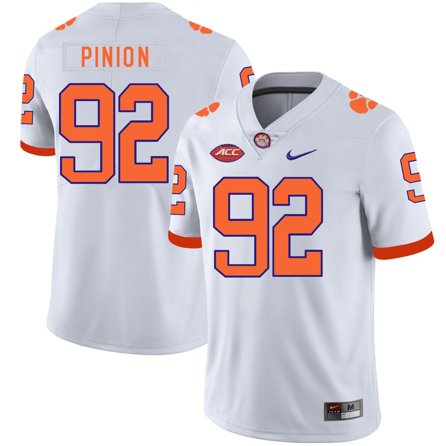 Clemson Tigers 92 Bradley Pinion White Nike College Football Jersey
