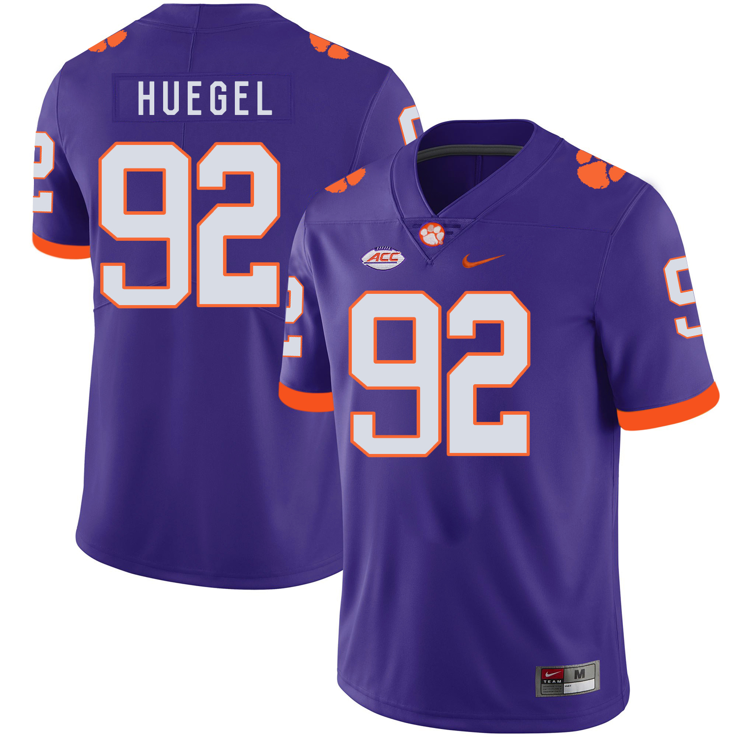 Clemson Tigers 92 Greg Huegel Purple Nike College Football Jersey