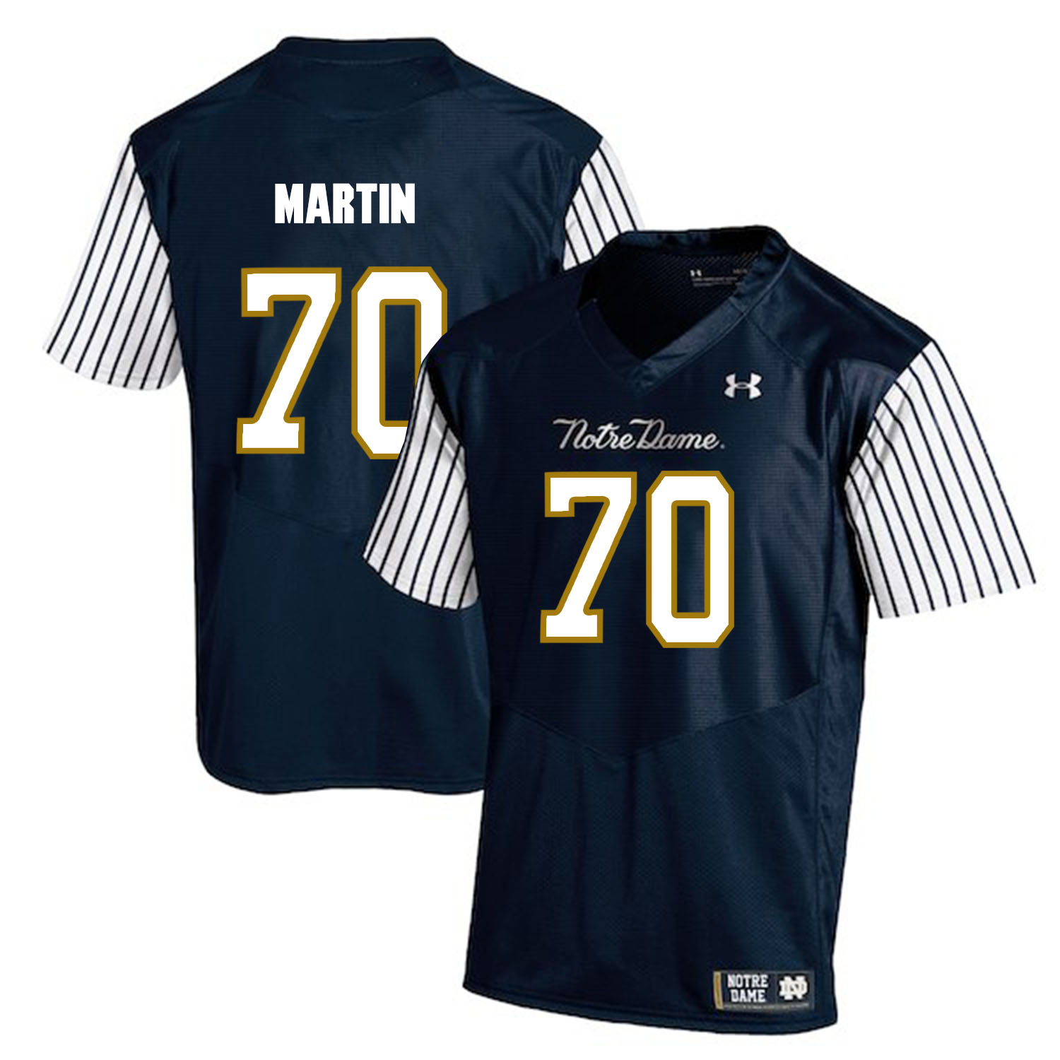 Notre Dame Fighting Irish 70 Zack Martin Navy College Football Jersey