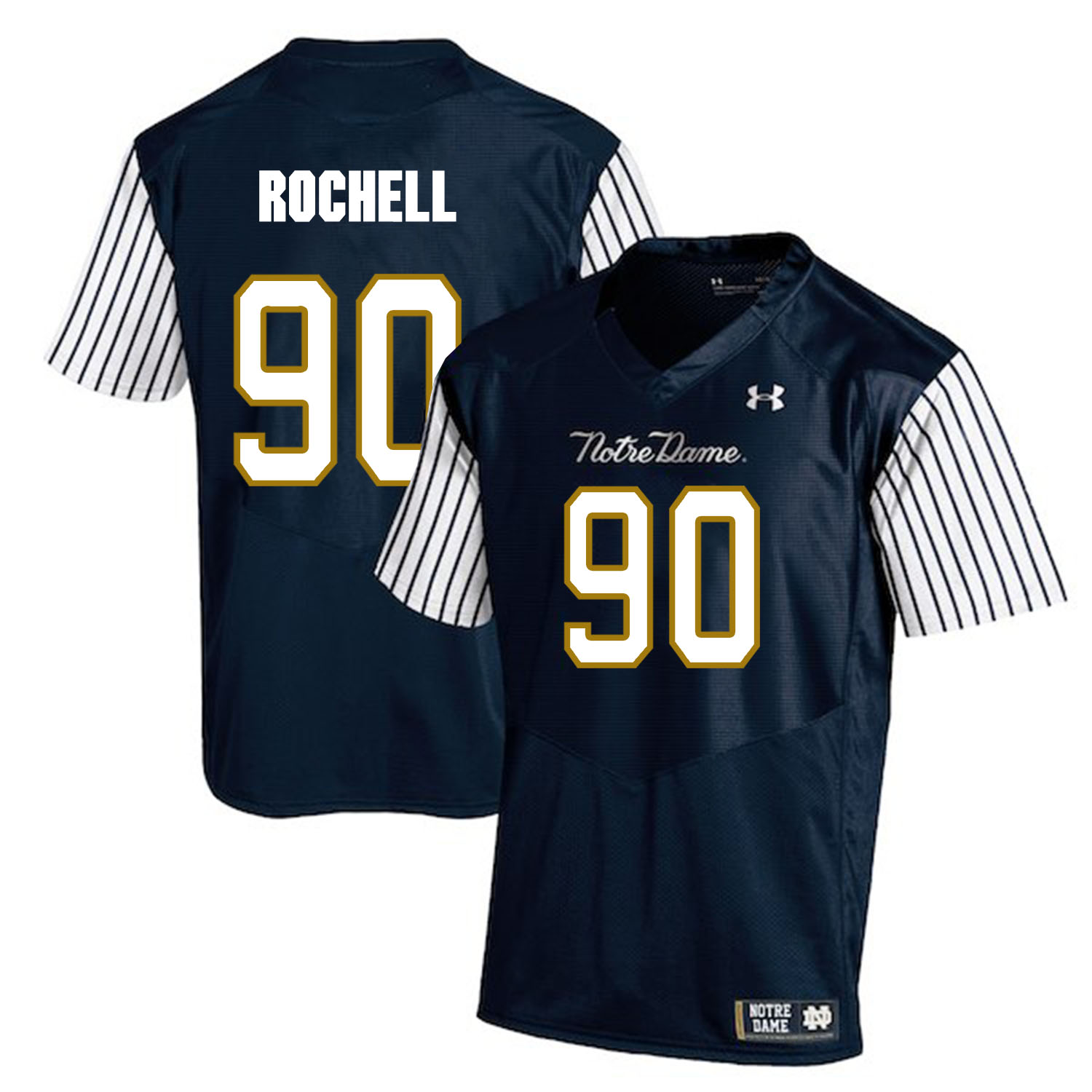 Notre Dame Fighting Irish 90 Isaac Rochell Navy College Football Jersey