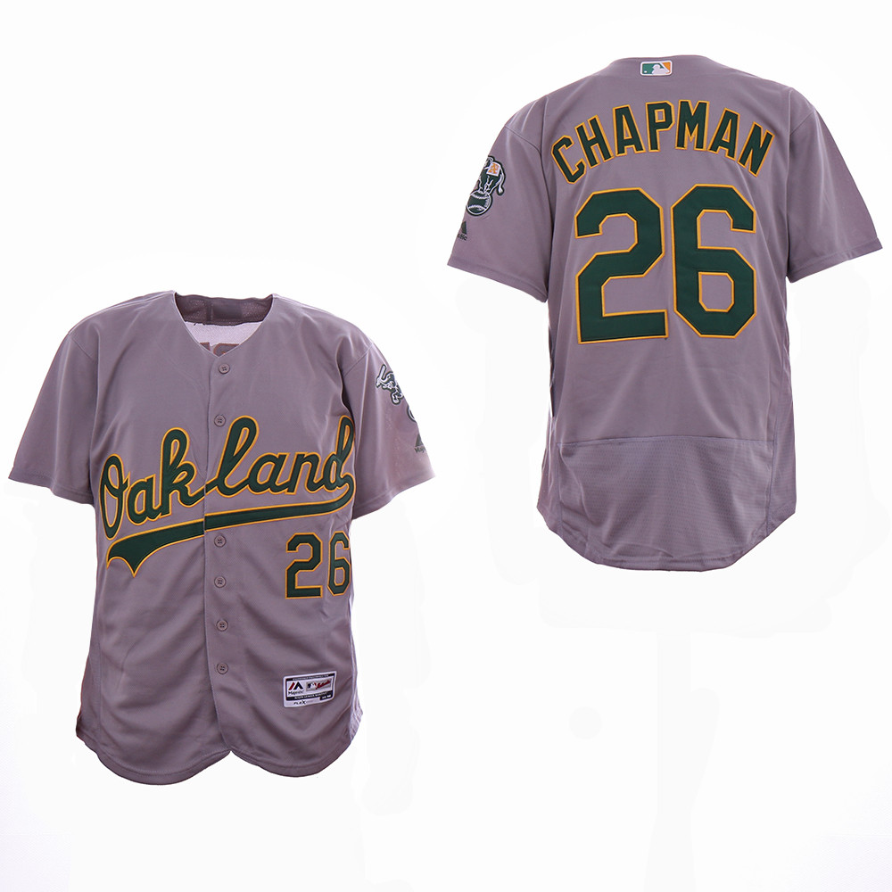 Athletics 26 Matt Chapman Gray Flexbase Jersey