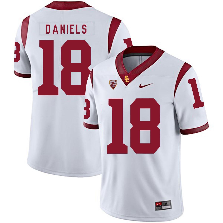 USC Trojans 18 JT Daniels White College Football Jersey