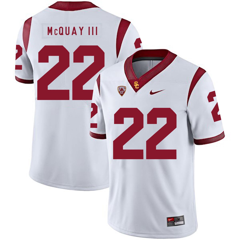 USC Trojans 22 Leon McQuay III White College Football Jersey