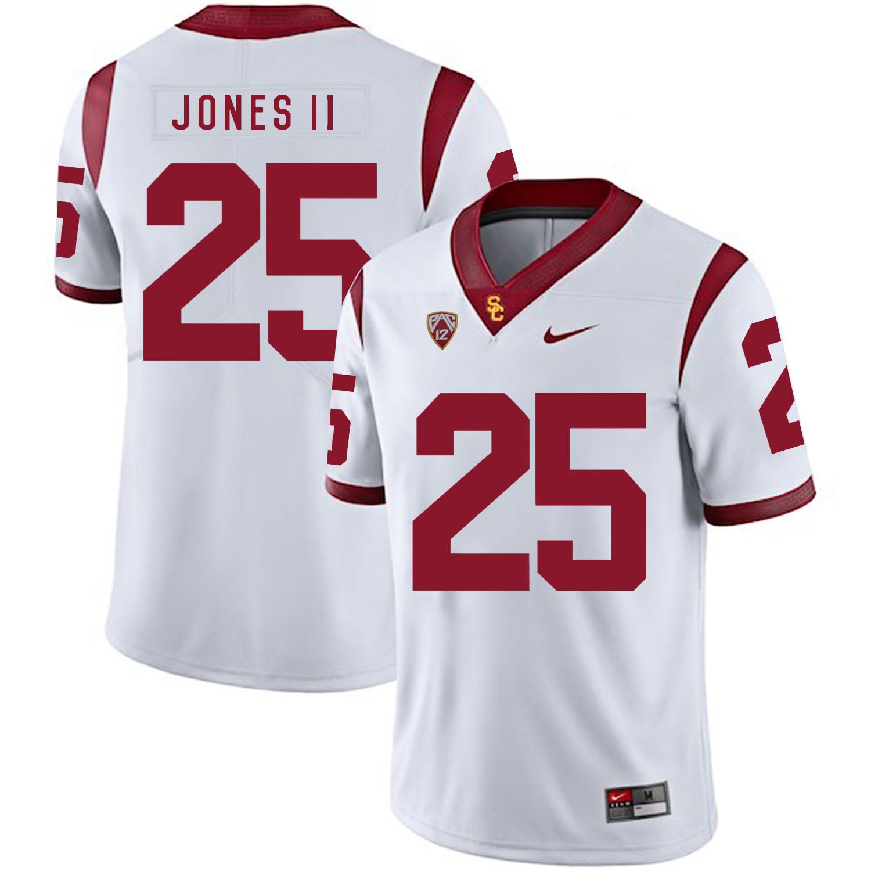 USC Trojans 25 Ronald Jones II White College Football Jersey