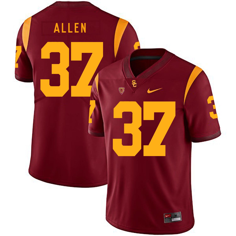 USC Trojans 37 Javorius Allen Red College Football Jersey