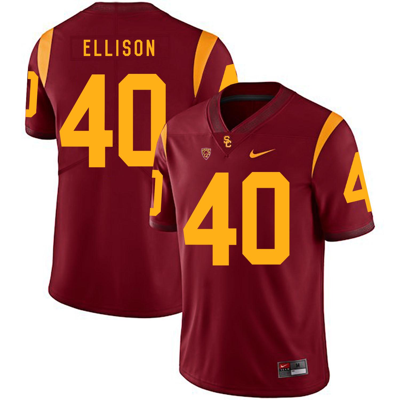 USC Trojans 40 Rhett Ellison Red College Football Jersey