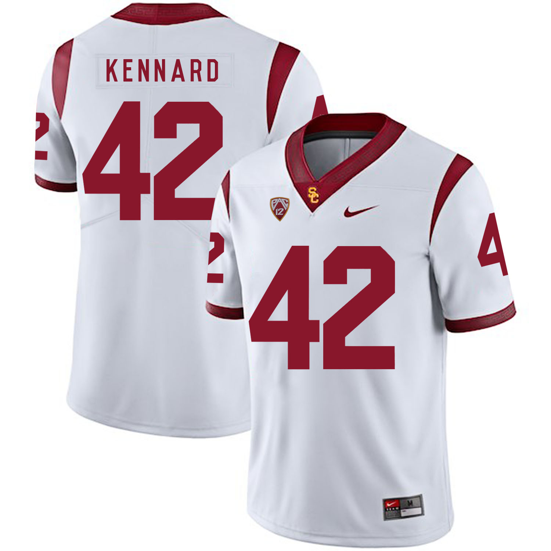 USC Trojans 42 Devon Kennard White College Football Jersey
