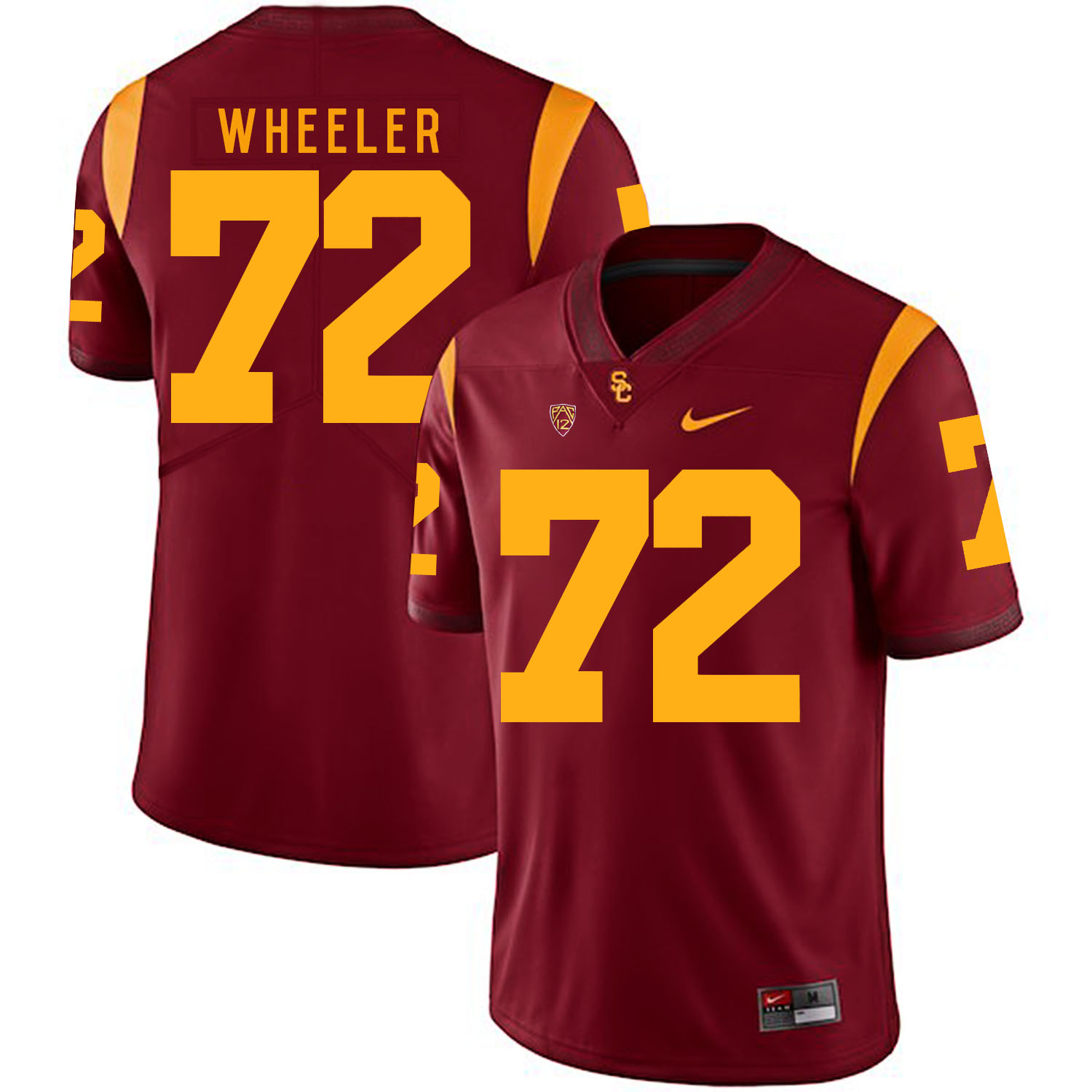 USC Trojans 72 Chad Wheeler Red College Football Jersey