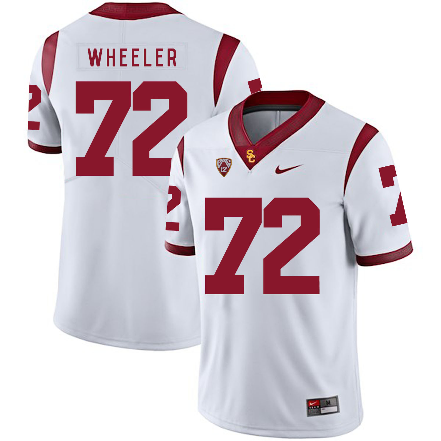 USC Trojans 72 Chad Wheeler White College Football Jersey