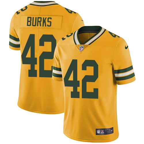 Nike Packers 42 Oren Burks Orange Youth Vapor Untouchable Limited Jersey