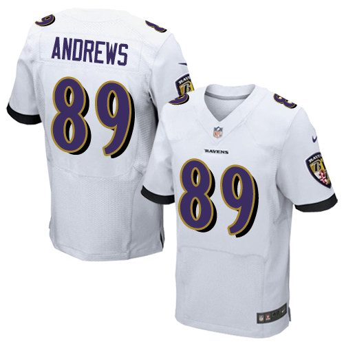 Nike Ravens 89 Mark Andrews White Elite Jersey