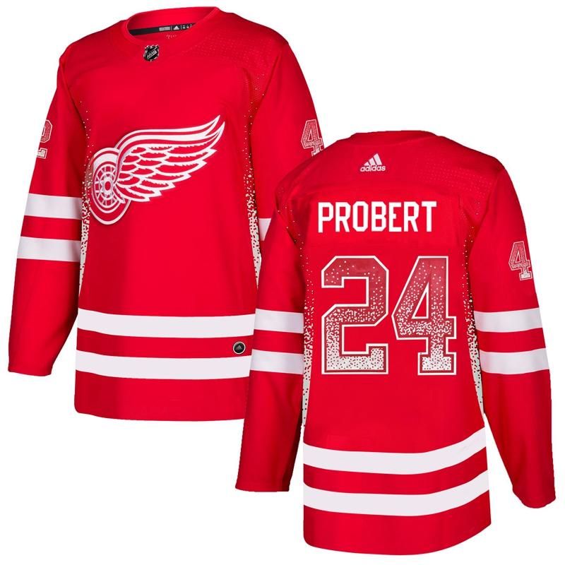 Red Wings 24 Bob Probert Red Drift Fashion Adidas Jersey