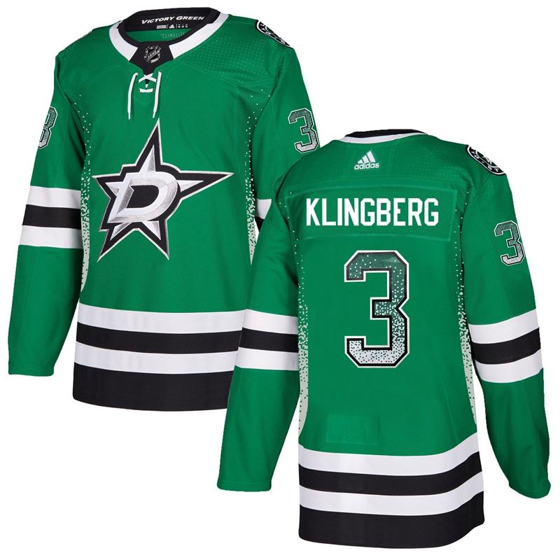 Stars 3 John Klingberg Green Drift Fashion Adidas Jersey